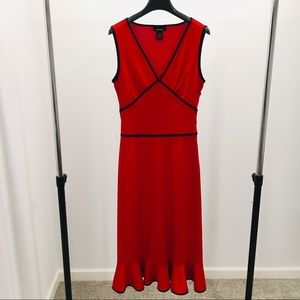 Express Red Sleeveless Midi Dress